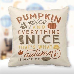 Pumpkin Spice Pillow Covers